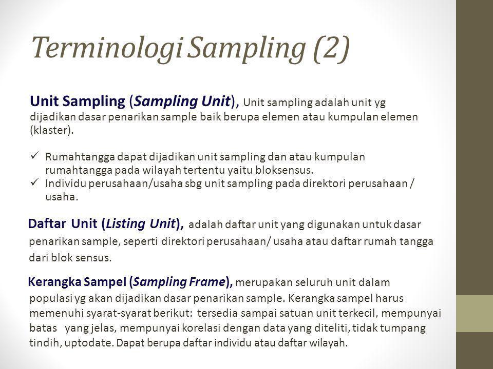 Terminologi Sampling (2)