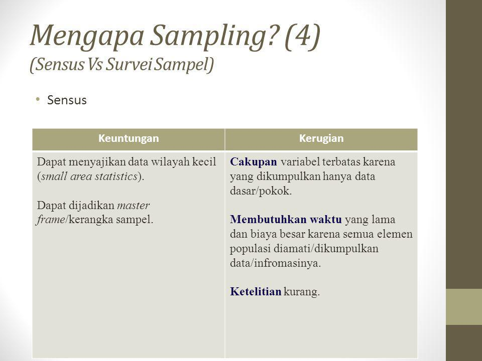 Mengapa Sampling (4) (Sensus Vs Survei Sampel)
