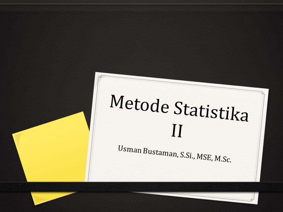 Usman Bustaman, S.Si., MSE, M.Sc.
