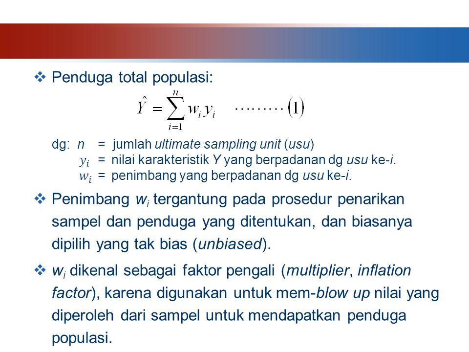 Penduga total populasi: