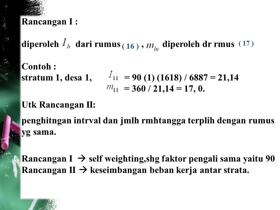 diperoleh dari rumus , diperoleh dr rmus Contoh :
