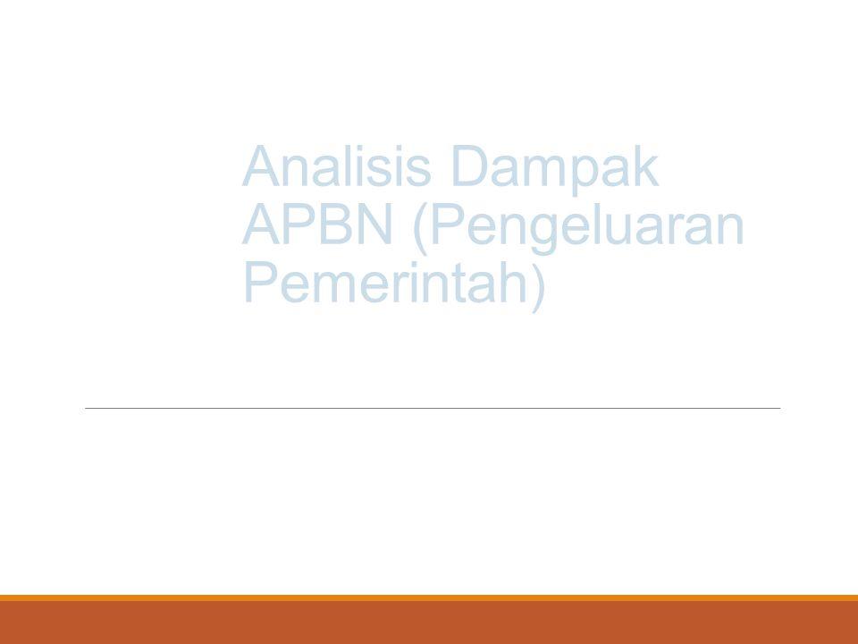 Analisis Dampak APBN (Pengeluaran Pemerintah)