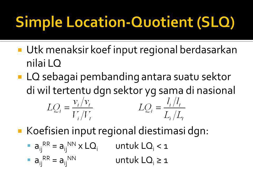 Simple Location-Quotient (SLQ)
