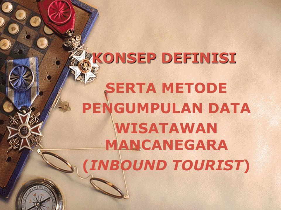 SERTA METODE PENGUMPULAN DATA WISATAWAN MANCANEGARA (INBOUND TOURIST)