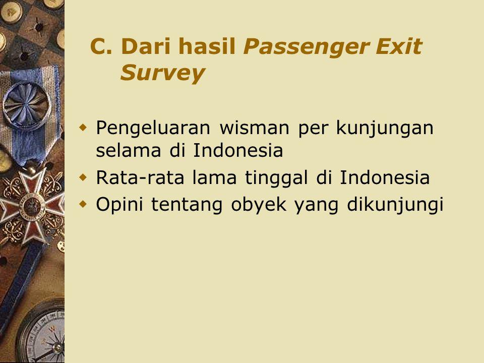 C. Dari hasil Passenger Exit Survey