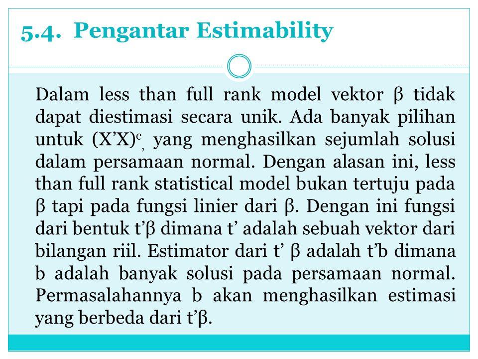 5.4. Pengantar Estimability