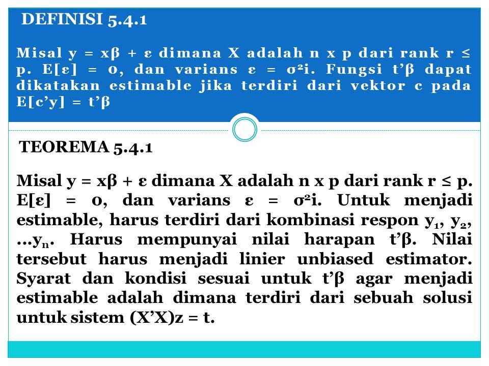 DEFINISI 5.4.1