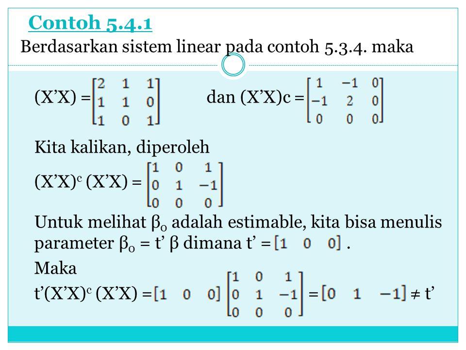 Contoh 5.4.1