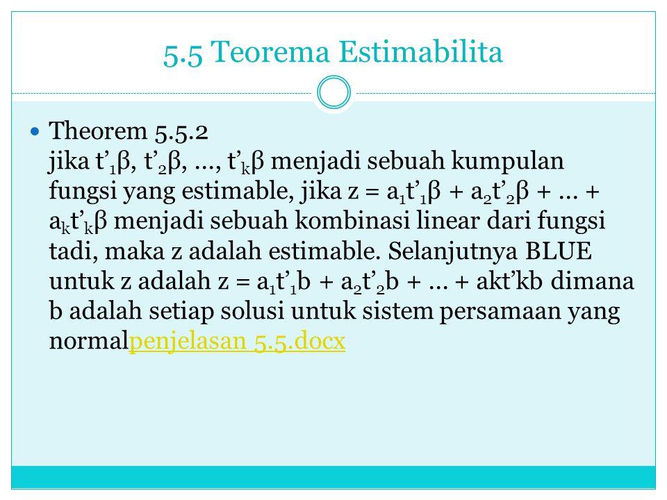 5.5 Teorema Estimabilita