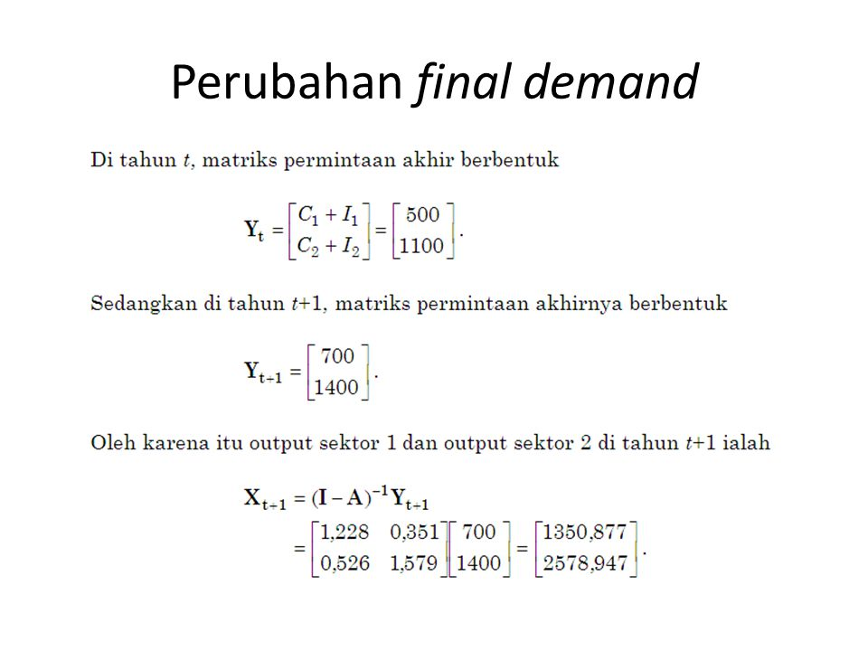 Perubahan final demand