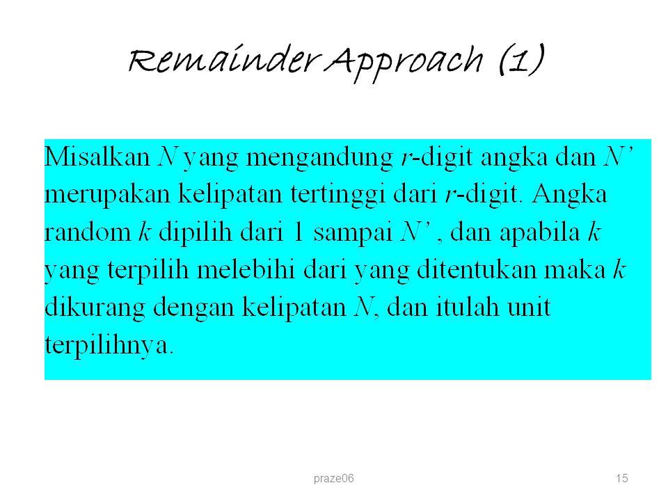 Remainder Approach (1) praze06