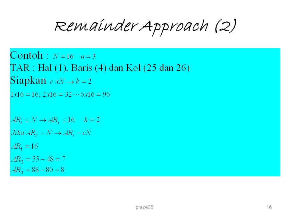 Remainder Approach (2) praze06