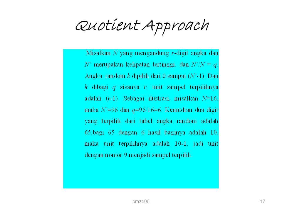 Quotient Approach praze06