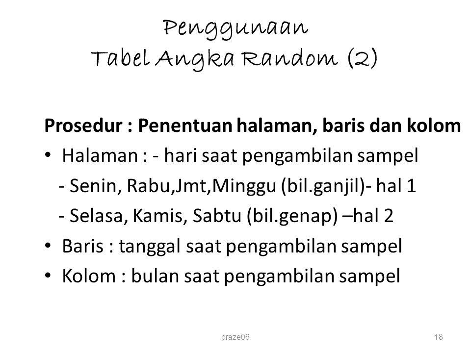 Penggunaan Tabel Angka Random (2)