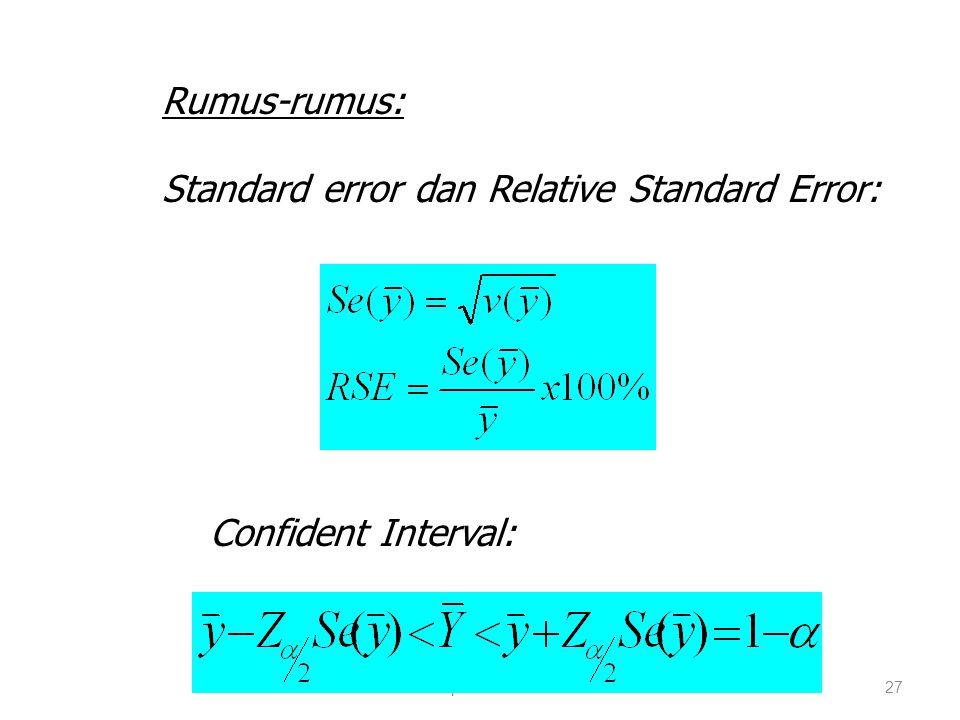 Standard error dan Relative Standard Error: