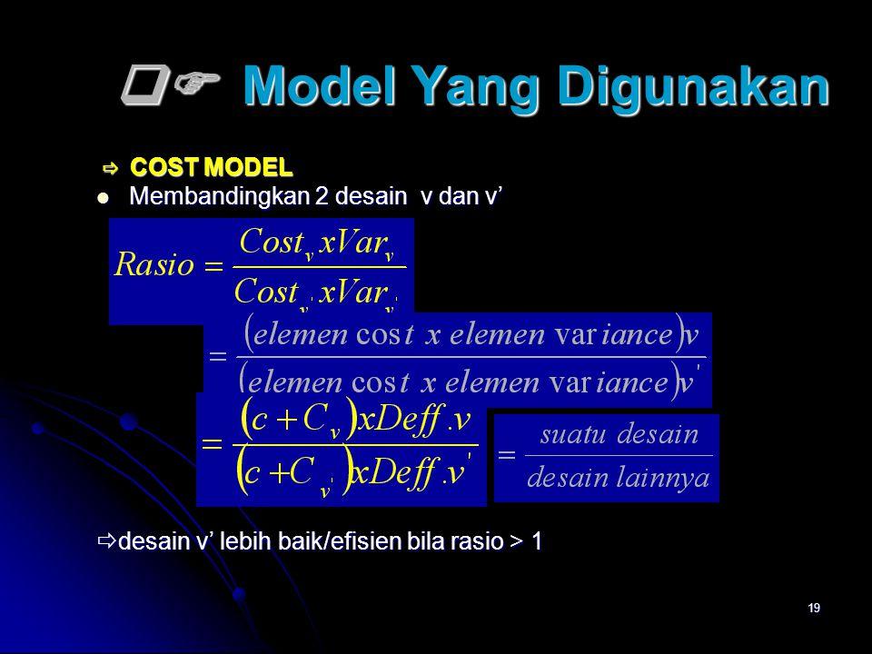  Model Yang Digunakan