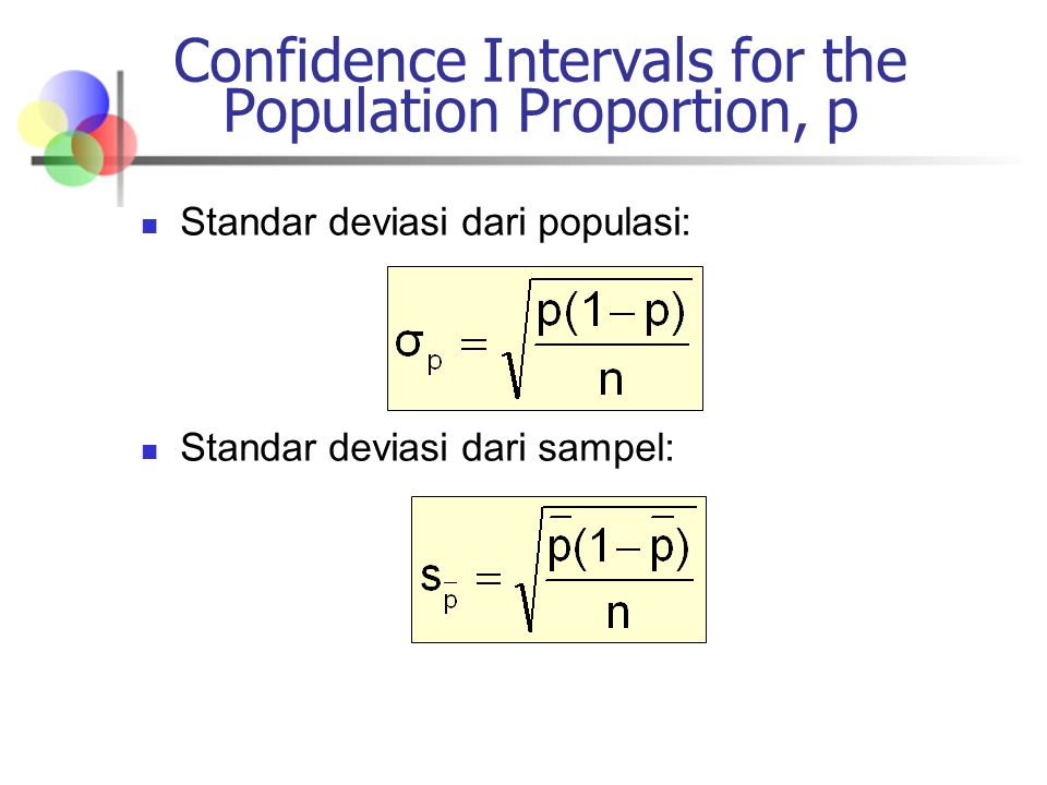 Confidence Intervals for the Population Proportion, p