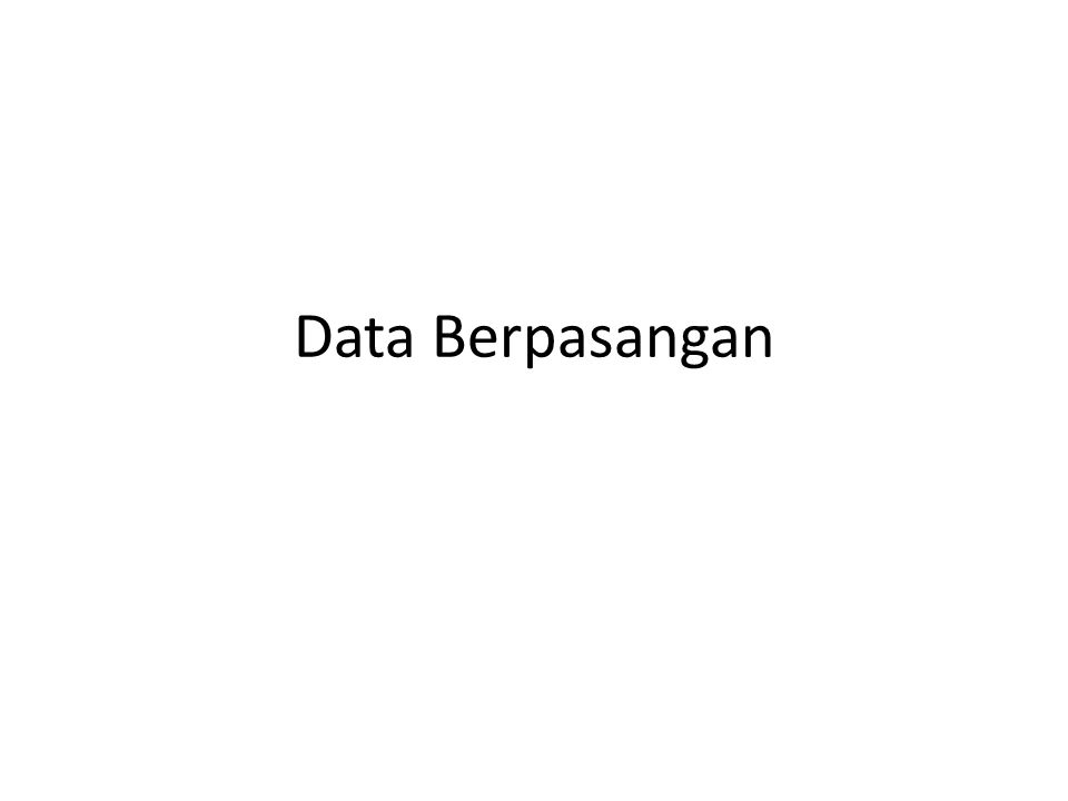 Data Berpasangan