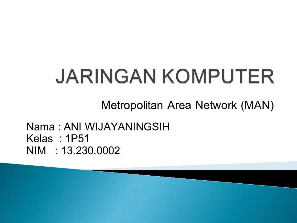 JARINGAN KOMPUTER Metropolitan Area Network (MAN)