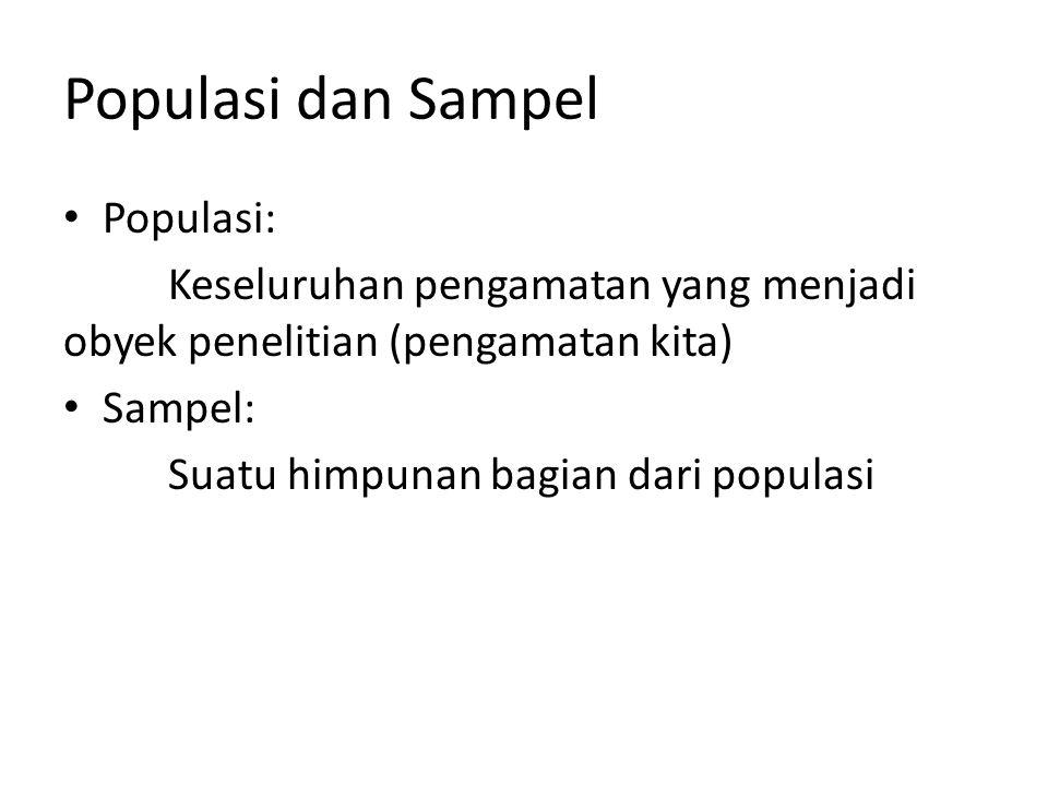 Populasi dan Sampel Populasi: