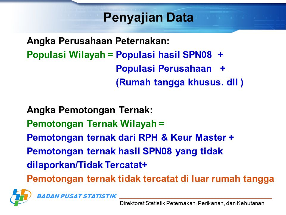 Penyajian Data Angka Perusahaan Peternakan:
