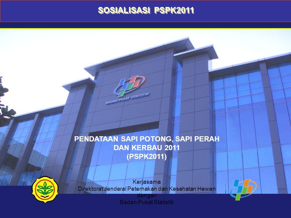 PENDATAAN SAPI POTONG, SAPI PERAH DAN KERBAU 2011