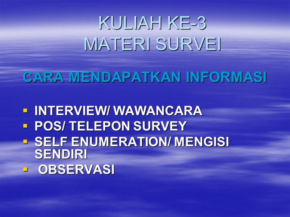 KULIAH KE-3 MATERI SURVEI
