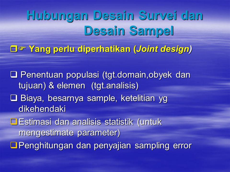 Hubungan Desain Survei dan Desain Sampel