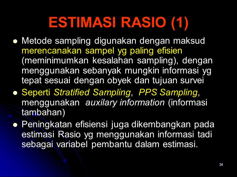 ESTIMASI RASIO (1)