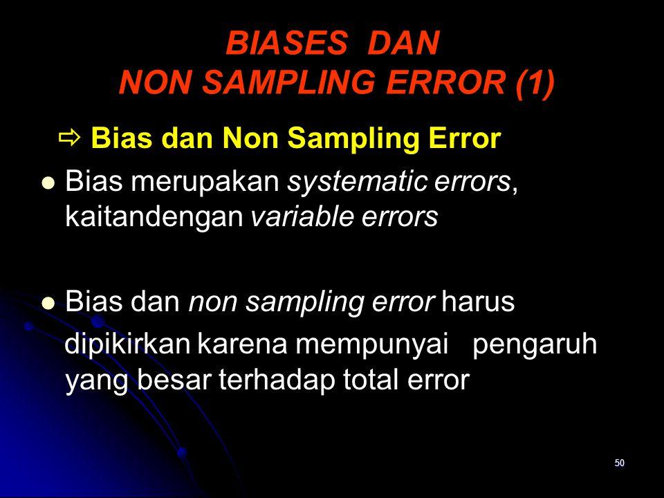 BIASES DAN NON SAMPLING ERROR (1)