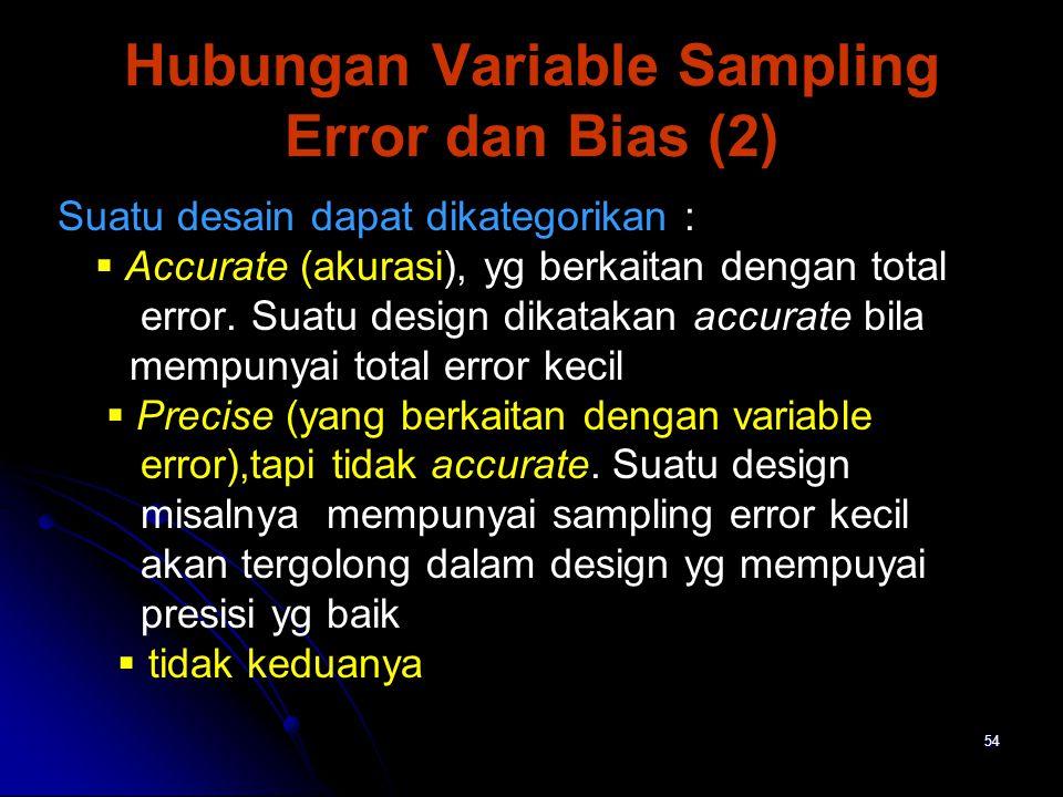 Hubungan Variable Sampling Error dan Bias (2)