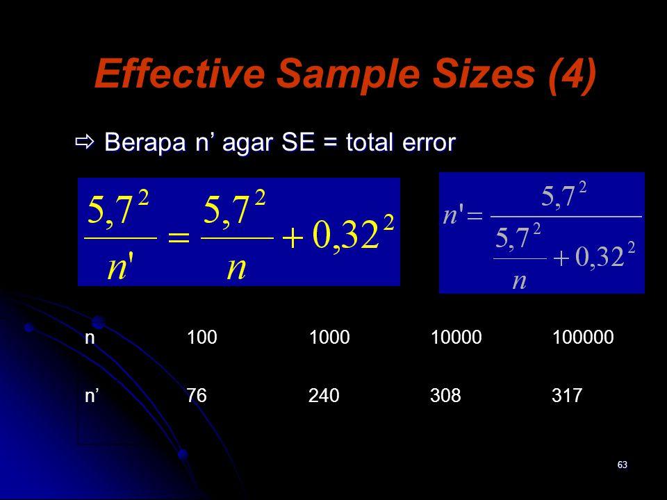 Effective Sample Sizes (4)
