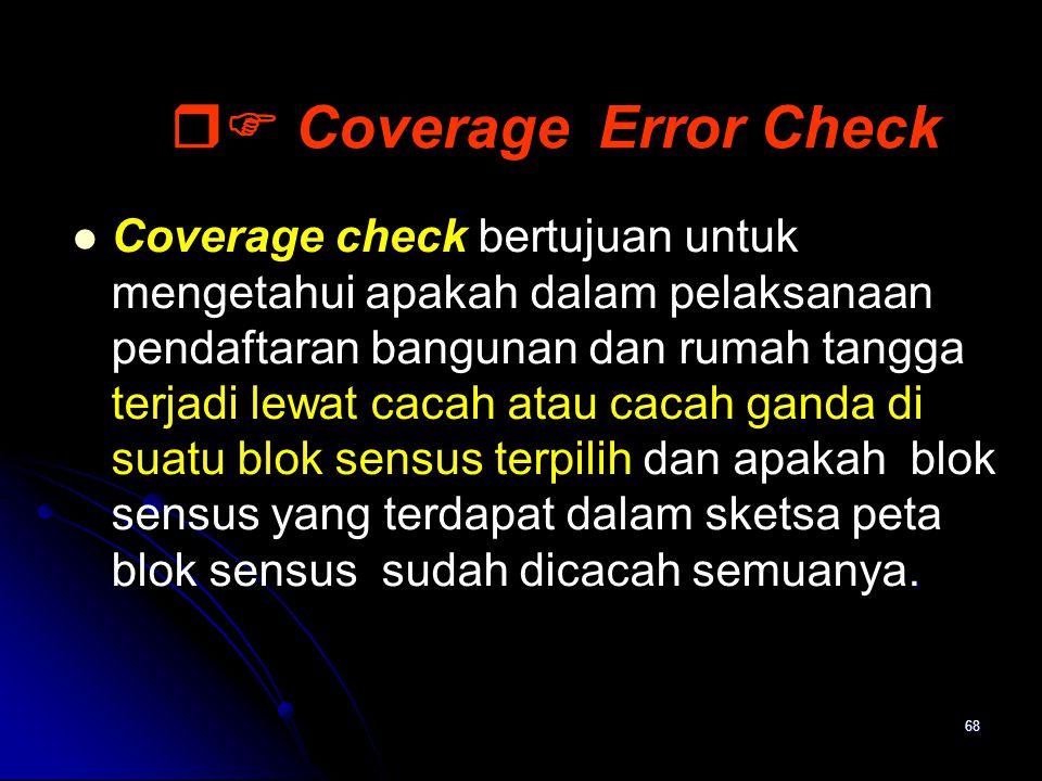  Coverage Error Check