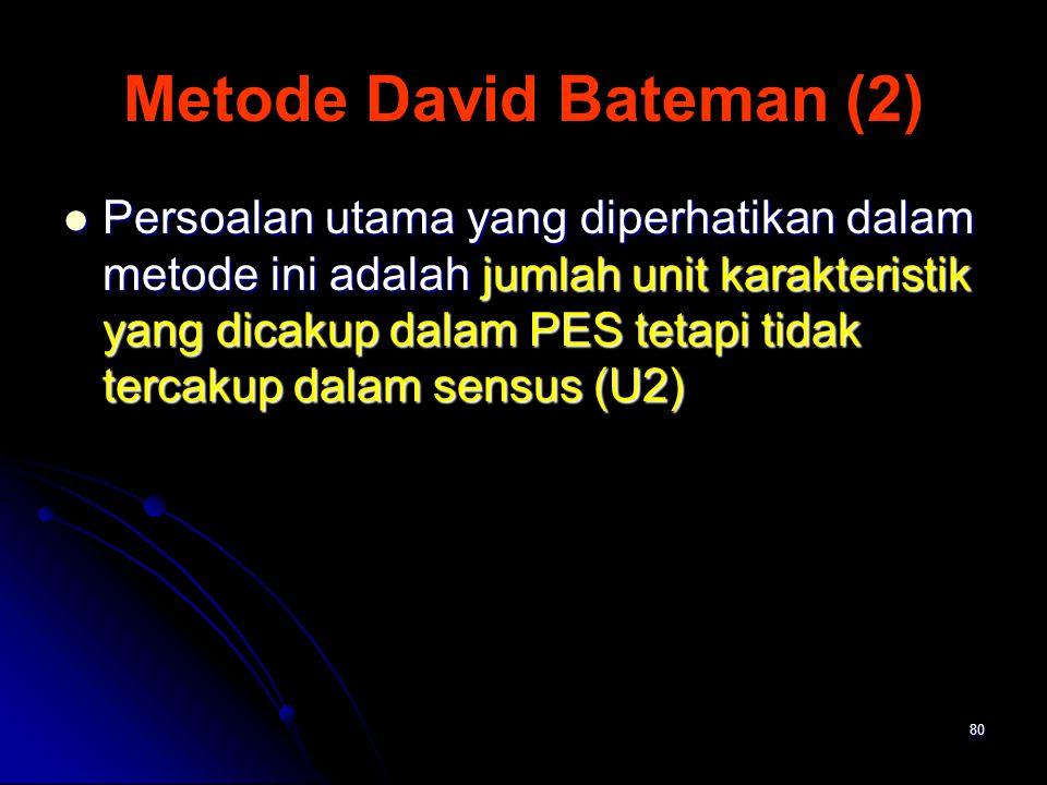 Metode David Bateman (2)