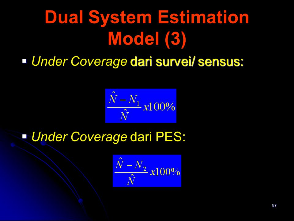 Dual System Estimation Model (3)