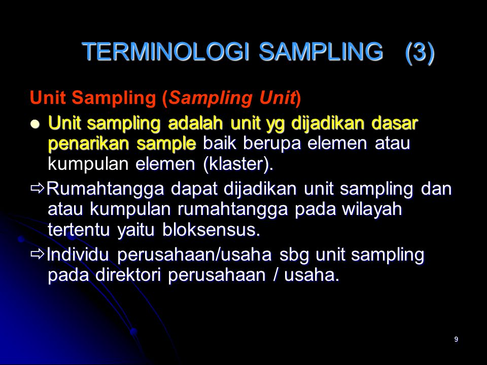 TERMINOLOGI SAMPLING (3)