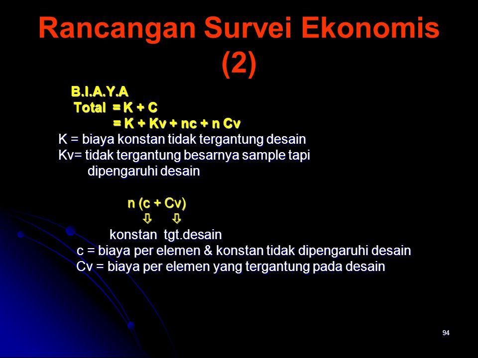Rancangan Survei Ekonomis (2)