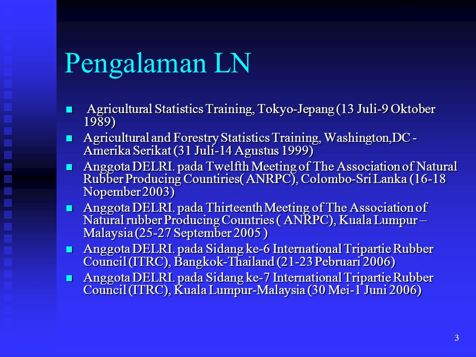Pengalaman LN Agricultural Statistics Training, Tokyo-Jepang (13 Juli-9 Oktober 1989)
