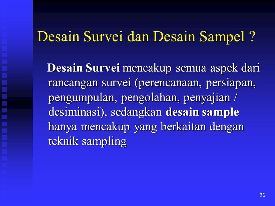 Desain Survei dan Desain Sampel