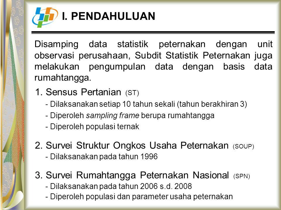 I. PENDAHULUAN 1. Sensus Pertanian (ST)