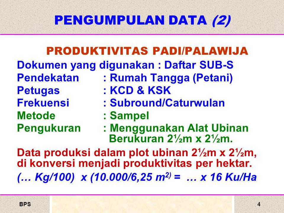 PRODUKTIVITAS PADI/PALAWIJA