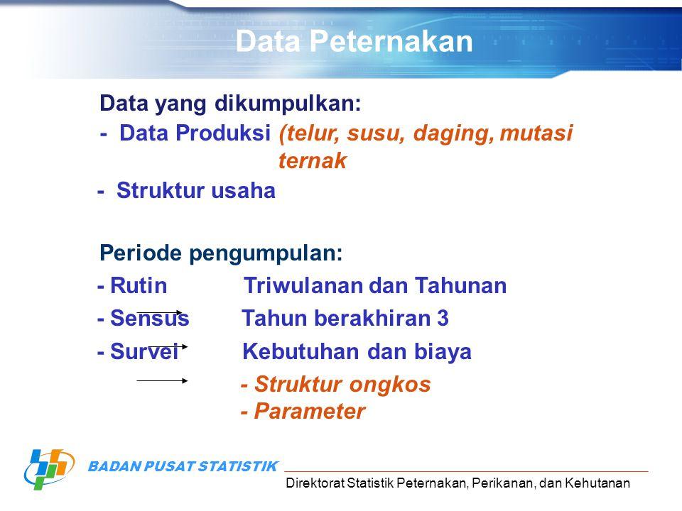 Data Peternakan Data yang dikumpulkan: