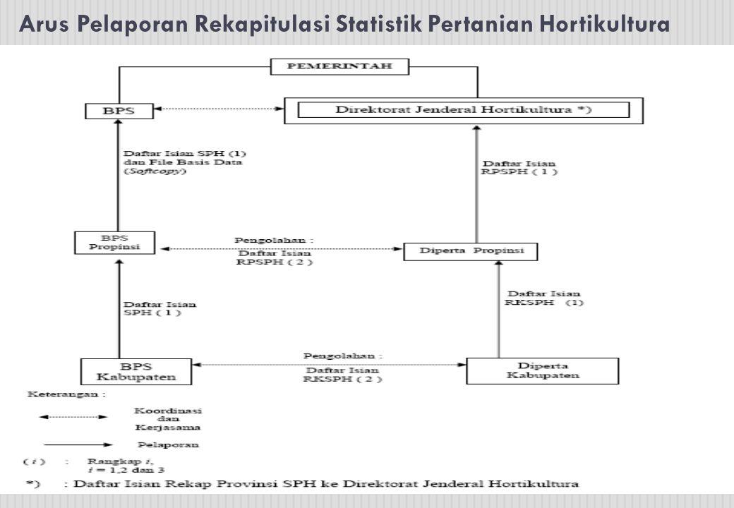 Arus Pelaporan Rekapitulasi Statistik Pertanian Hortikultura