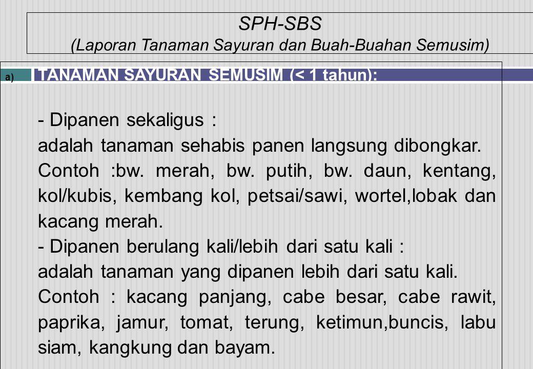 SPH-SBS (Laporan Tanaman Sayuran dan Buah-Buahan Semusim)