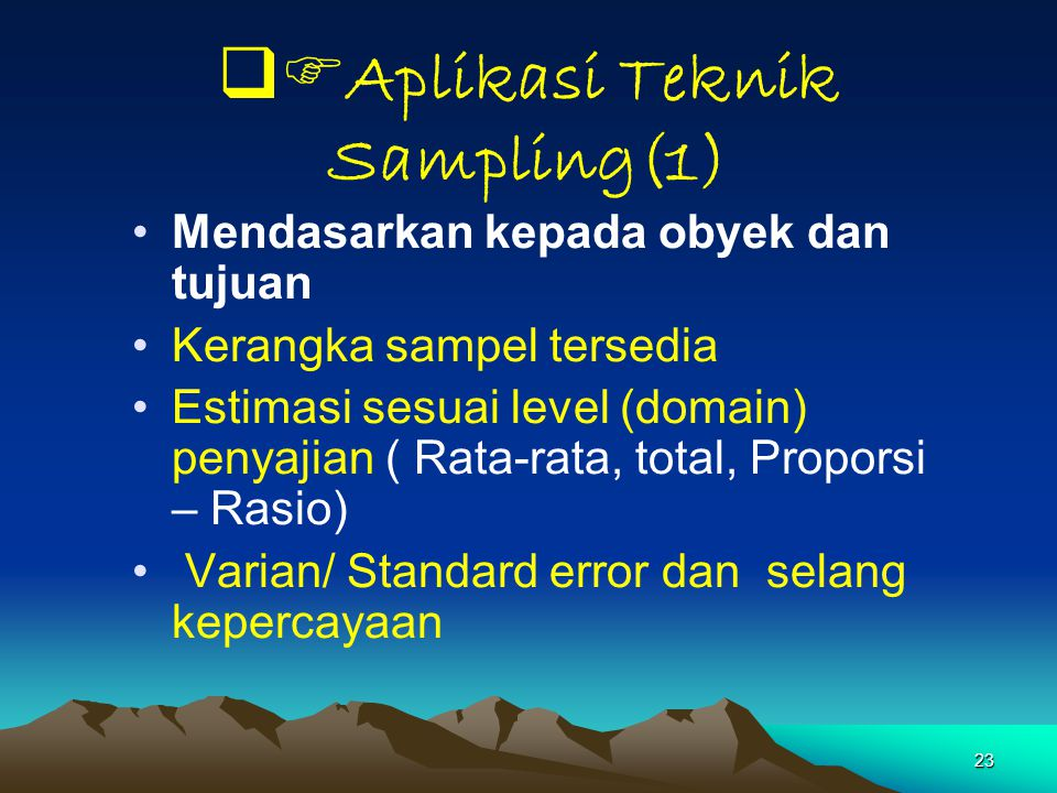Aplikasi Teknik Sampling(1)