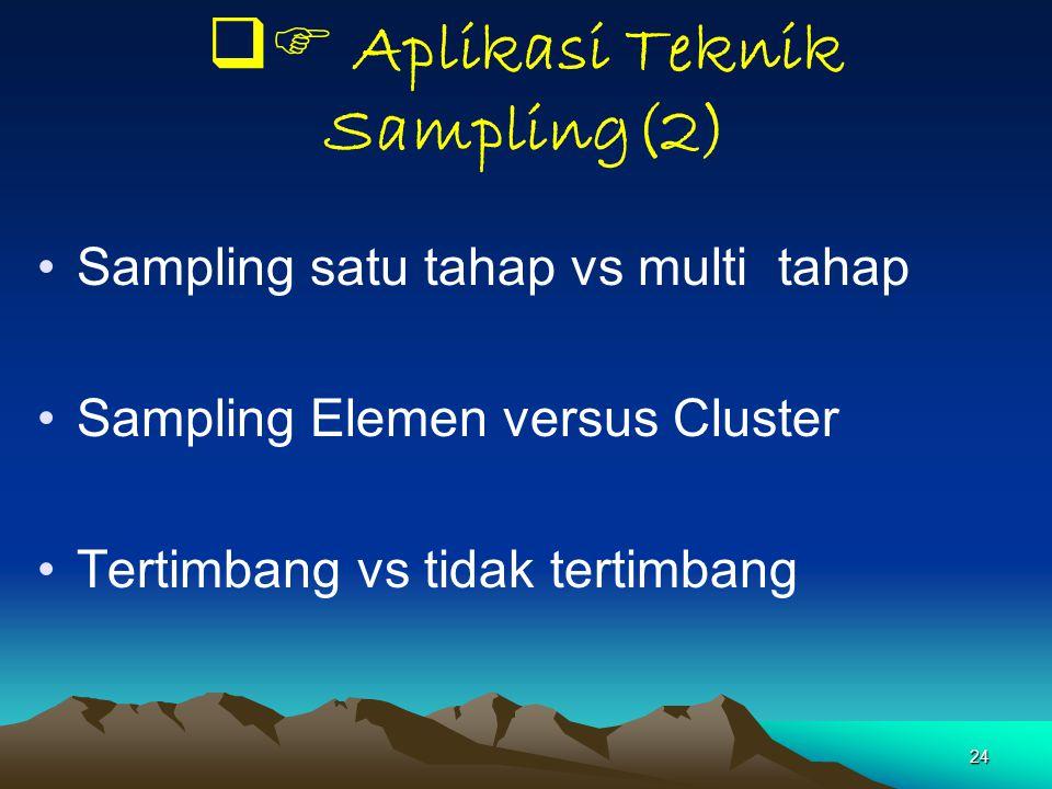  Aplikasi Teknik Sampling(2)