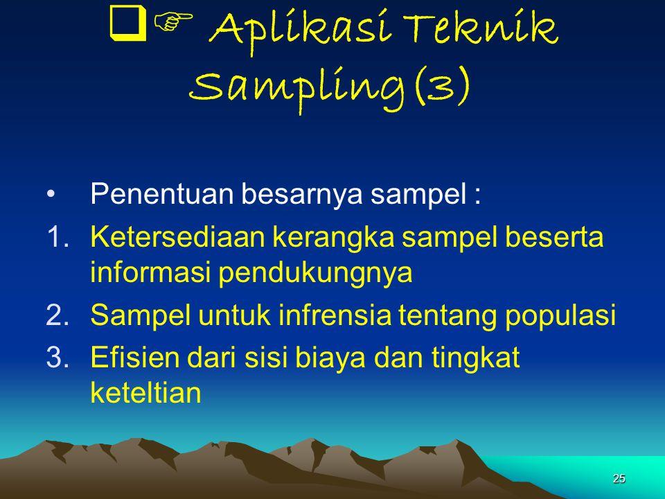  Aplikasi Teknik Sampling(3)