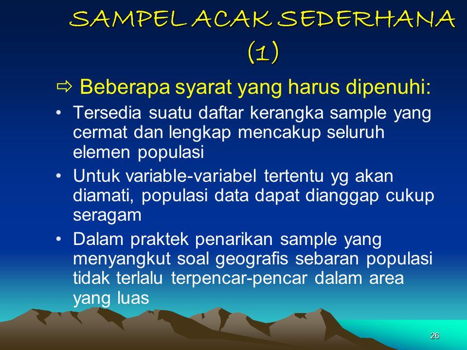 SAMPEL ACAK SEDERHANA (1)