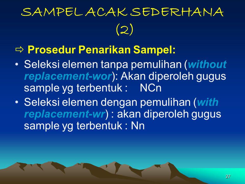 SAMPEL ACAK SEDERHANA (2)