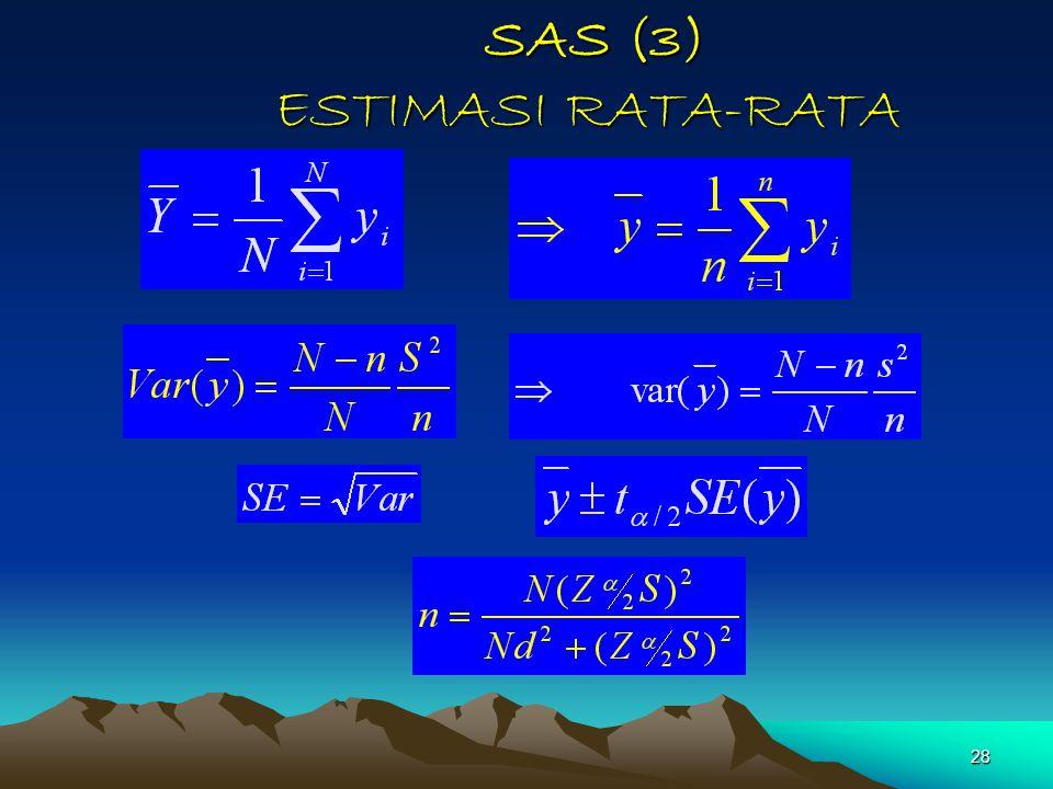 SAS (3) ESTIMASI RATA-RATA